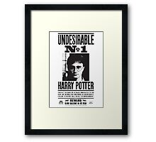 Harry Potter Wanted Poster Framed Print