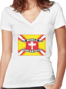 Mobile Infantry Flag Women's Fitted V-Neck T-Shirt