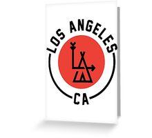 LA - Los Angeles [No background] Greeting Card