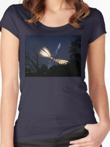 night fireworks Women's Fitted Scoop T-Shirt