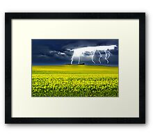 Lightning of Ruin Framed Print