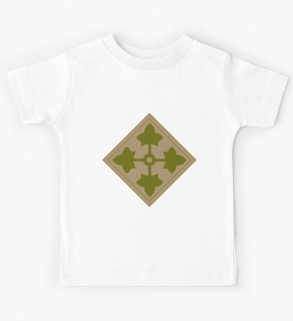 Logo of the Fourth Infantry Division, U. S. Army Kids Tee