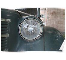 Headlight retro car Poster