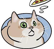 (heavy breathing) cat haz pizza by DactikArt