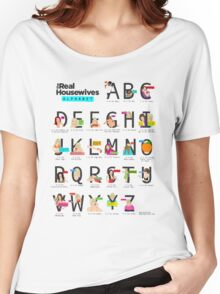 The Real Housewives Alphabet T-Shirt Women's Relaxed Fit T-Shirt
