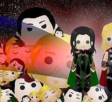 Tsum Tsums with Thor and Loki by TreeMuse