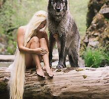 A Wolf and His Girl by AndreaBorden