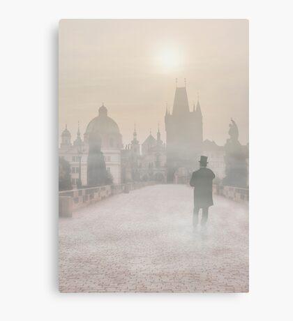 Foggy Prague Canvas Print