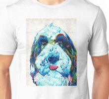 Bearded Collie Art - Dog Portrait by Sharon Cummings Unisex T-Shirt