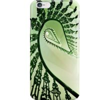 Spiral stairs in green tones iPhone Case/Skin