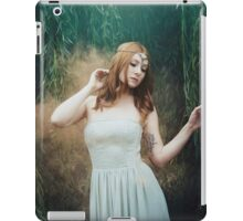 Beautiful girl red hair fantasy elven girl iPad Case/Skin