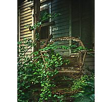 Wicker Chair Photographic Print
