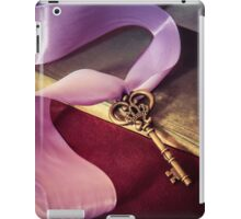 Still Life With Ornamented Key And Violet Ribbon iPad Case/Skin