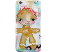Gingerbread girl iPhone Case/Skin