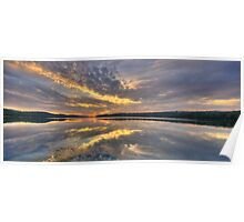 Reflective Mood - Narrabeen Lakes, Sydney - The HDR Experience Poster