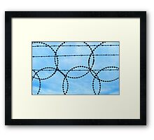 Olympic Barb wire ! Framed Print