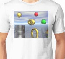 Abstract art floating balls Unisex T-Shirt