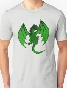 Green Clinging Dragon Unisex T-Shirt