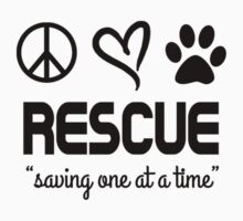 Rescue Saving One At A Time (black) Kids Tee