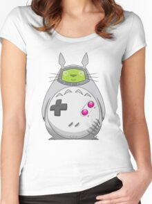 Game Boy Totoro Women's Fitted Scoop T-Shirt