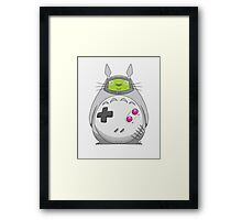 Game Boy Totoro Framed Print