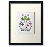 Game Boy Totoro Framed Print