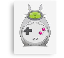 Game Boy Totoro Canvas Print