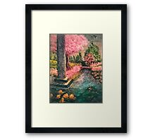 Cherry Tree and Tranquil Waters Framed Print