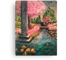 Cherry Tree and Tranquil Waters Canvas Print