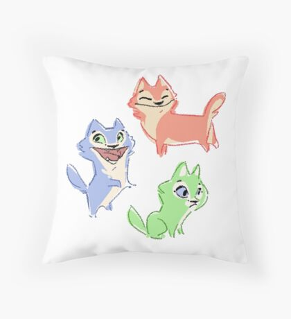 Huskie Pups Throw Pillow