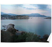 Sunrise over Almyrida, Crete. Poster
