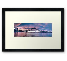 Blush - Sydney Harbour.Sydney Australia (30 Exposure HDR Panorama) - The HDR Experience Framed Print