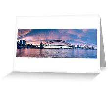 Blush - Sydney Harbour.Sydney Australia (30 Exposure HDR Panorama) - The HDR Experience Greeting Card