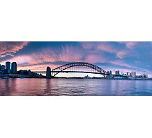 Blush - Sydney Harbour.Sydney Australia (30 Exposure HDR Panorama) - The HDR Experience Photographic Print
