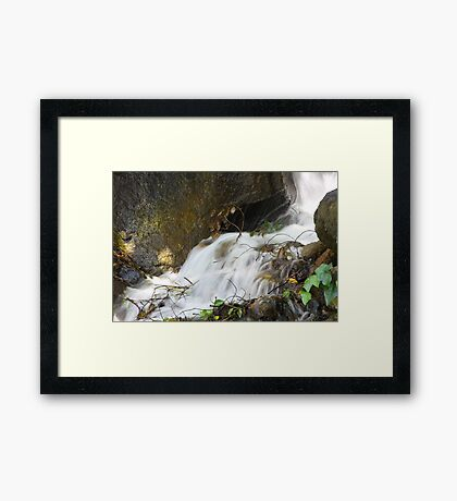 Moving Water Framed Print