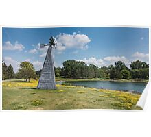 Windmill in a park Poster