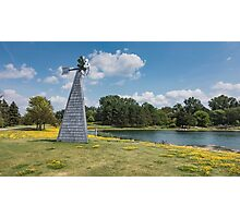 Windmill in a park Photographic Print