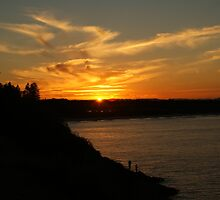 Sunset Fishing by Carol Field