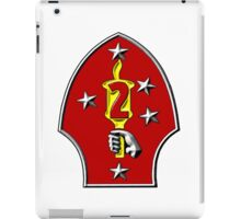The Logo of the U.S. 2nd Marine Division iPad Case/Skin