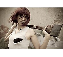 axe wielding beauty Photographic Print