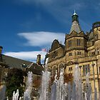 Sheffield Town Hall and Fountain by wiggyofipswich