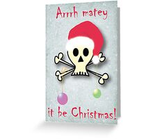 Pirate christmas Greeting Card