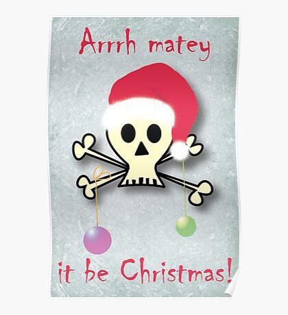 Pirate christmas Poster