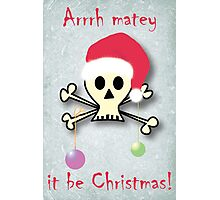 Pirate christmas Photographic Print