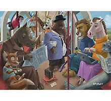 animals on a tube train subway commute Photographic Print