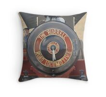 The Burrell Road Locomotive. Throw Pillow