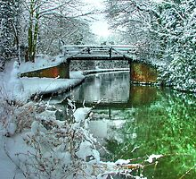 Winter at Murray`s Bridge with Snow Fisherman !! - HDR by Colin J Williams Photography