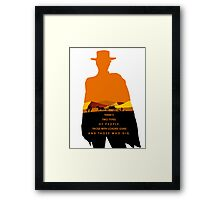 2 Types of people Framed Print