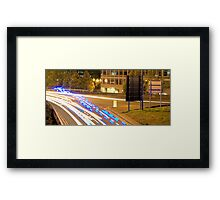 Blue Light Run Framed Print
