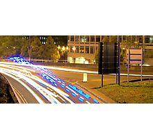 Blue Light Run Photographic Print